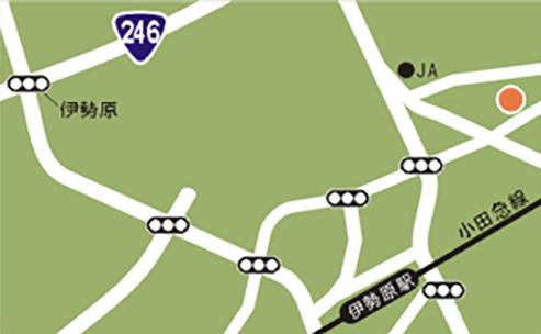 伊勢原エリアマップ