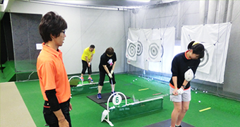 冷暖房完備の快適室内レンジ(小田原校・藤沢校・平塚校)